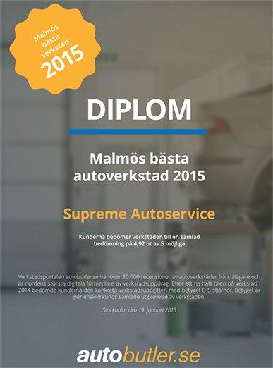 Malmös bästa bilverkstad 2015