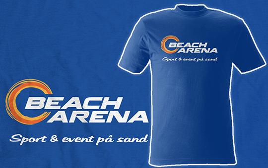 Transfer tryckta t-shirts till Beach Arena