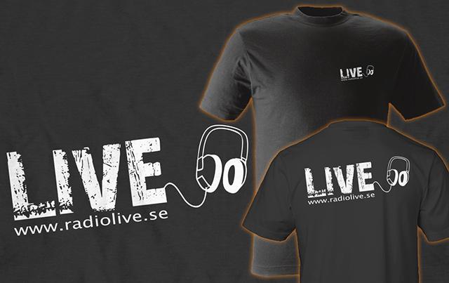 Screentryckta tshirts till RadioLive
