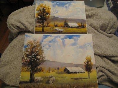 2 Bilder av ladugårdar