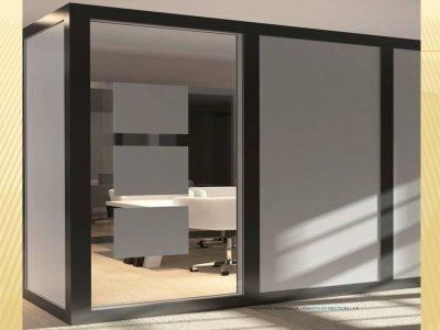پارتیشن ام دی اف مدل 903 سازه فولادی و آلومینیومی دارد و پرکننده دیواره آن ام دی اف میباشد