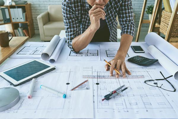 arkitektritning och arkitekt