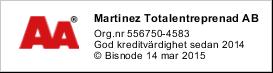 Martinez Entreprenad AA