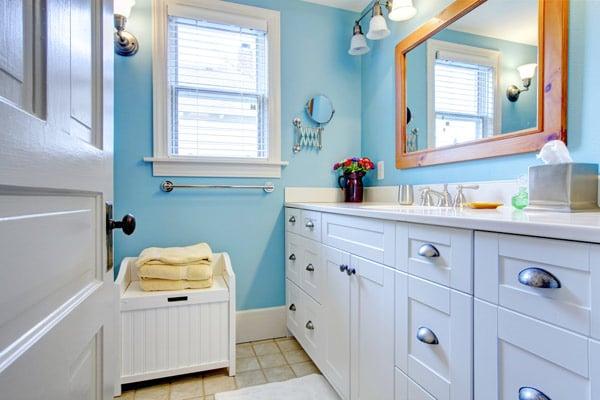 förvaring i badrummet i smarta skåp