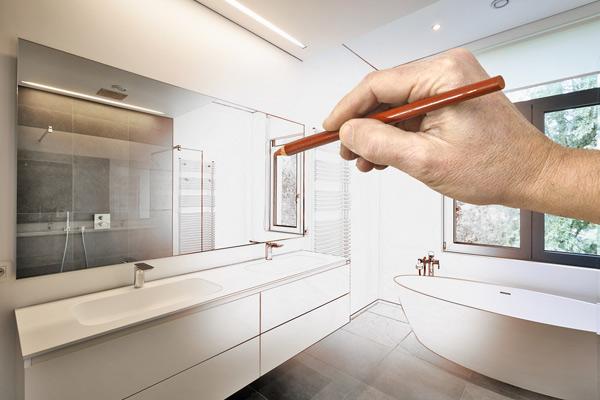 planering inför renovering av badrum