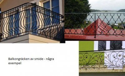 Balkongräcke smide skåne