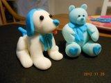 sugarpaste friends dog and teddy bear