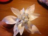 white poinsietta made from flowerpaste