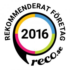 Rekommenderat företag 2016 - Reco