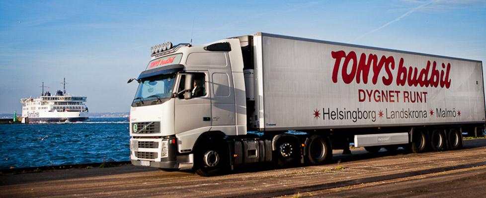 På Tonys Budbil är din budfirma i Helsingborg