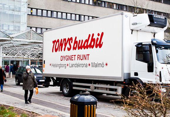 Tonys Budbil är din budfirma i Malmö