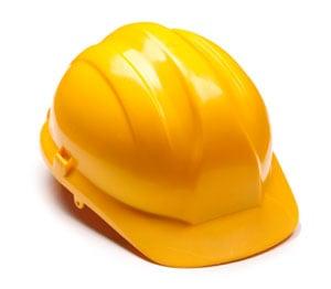 En gul bygghatt
