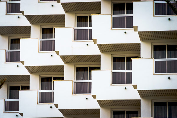 flera balkonger