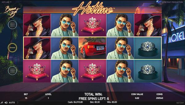Hotline free spins