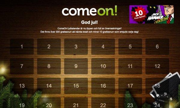 ComeOns julkalender 2013
