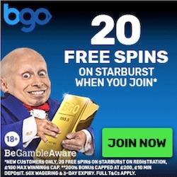 Gratis bonus Bgo