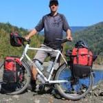 Man på cykelresa