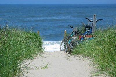 Cyklar vid havet
