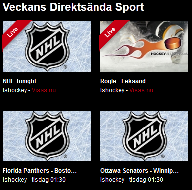 Elitserien hockey på Viaplay