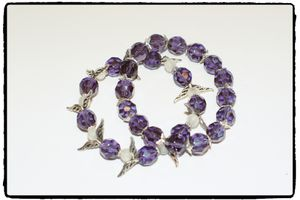 Armband - Lila Änglar