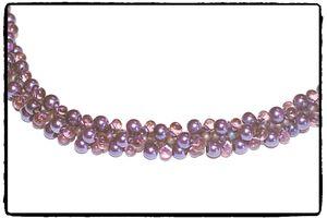 Halsband - Purpul Spiral