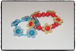 Armband - BLOM (blå el. röd)