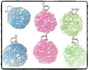 Clips - Trassel (blå, grön el. rosa)