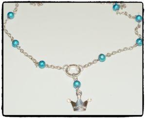 Halsband - PRiNSESSA (blå)