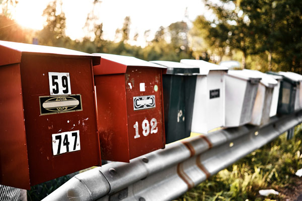 brevlådor adressändring