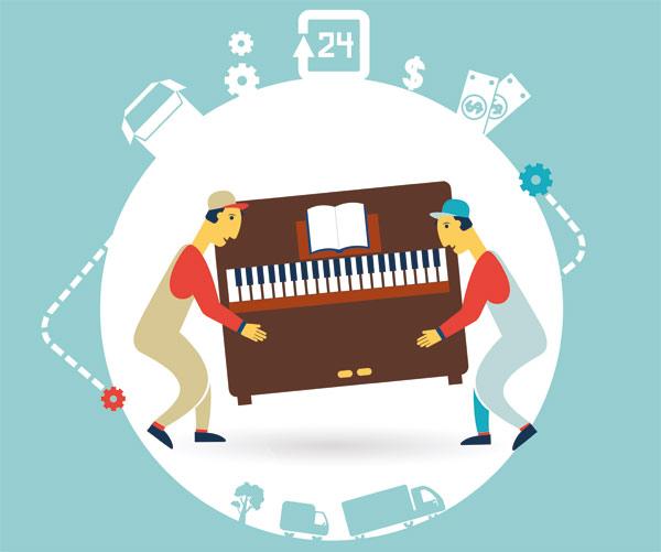 flytta piano