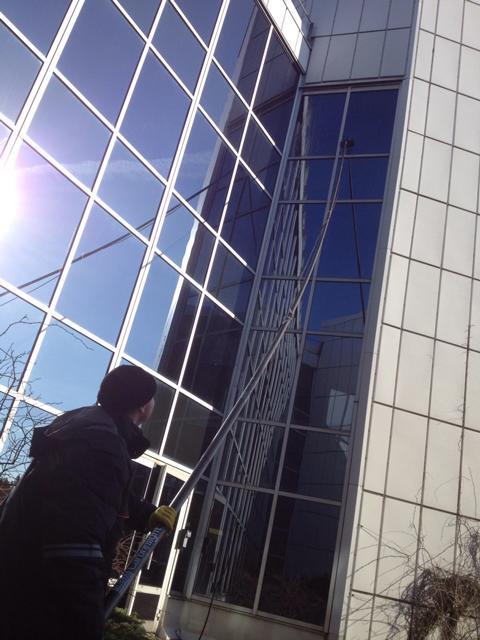 Fönsterputs höghus