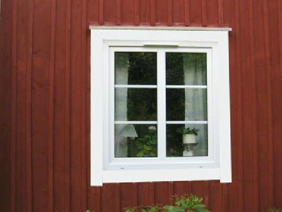 PVC-fönster i 1800-talsvilla