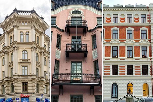 tre fasader östermalm