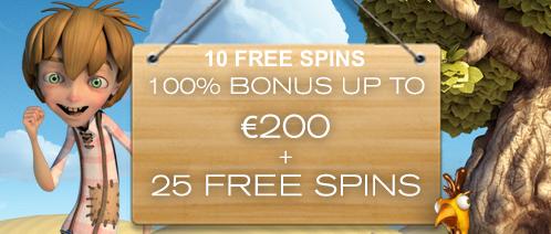 Free bonus with free spins!