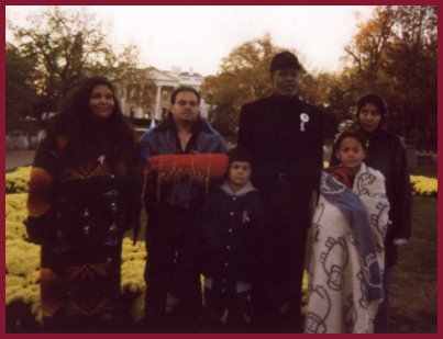 Danny Glover and members of the Peltier family