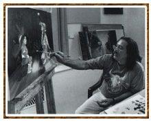 Leonard Peltier Painting