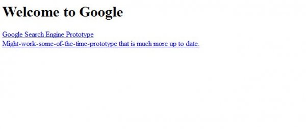 Google Search engine prototype