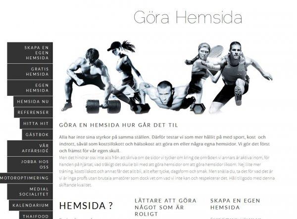 Göra Hemsida med blogg gratis