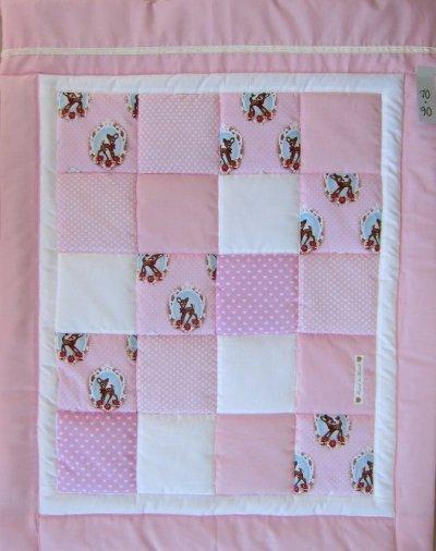 patchwork quilt baby rådjur
