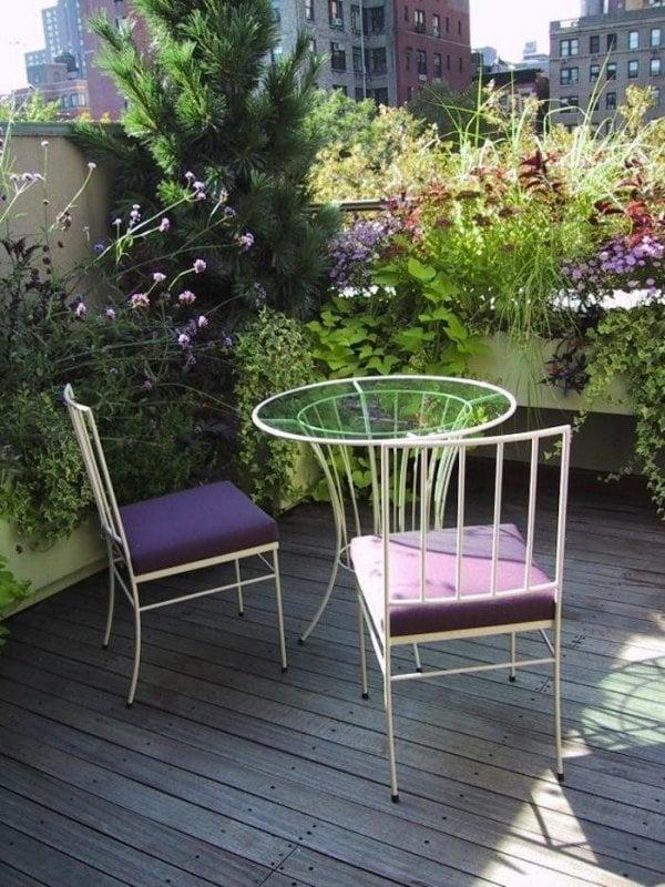 Blommig balkong