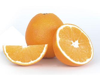 ansiktsmask med apelsin