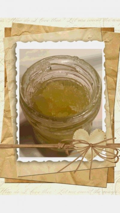 sockerskrubb med olivolja