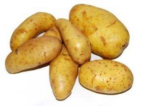 ansiktsmask med potatis