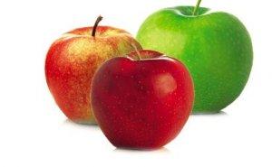 ansiktsmask med äpple