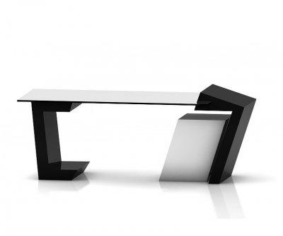 میز مدیریتی شیشه ای مدل 03