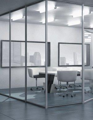 پارتیشن شیشه ای آرفونی با فریم تکجداره و دوجداره