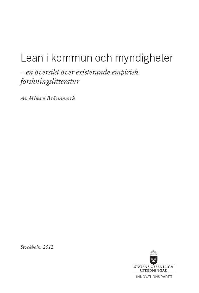 Forskningsöversikt om Lean