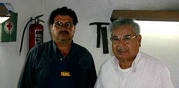 Maestro Lopez and his son Jose Antonio, silver jewelry teachers in San Miguel de Allende