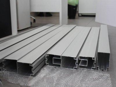 نمای مقطع پروفیل ستون های نگهدارنده پارتیشن