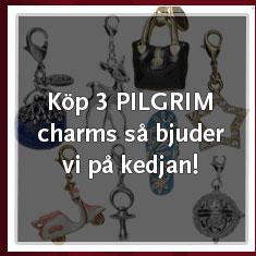 Köp 3 valfria PILGRIM Charms så bjuder vi på kedjan!